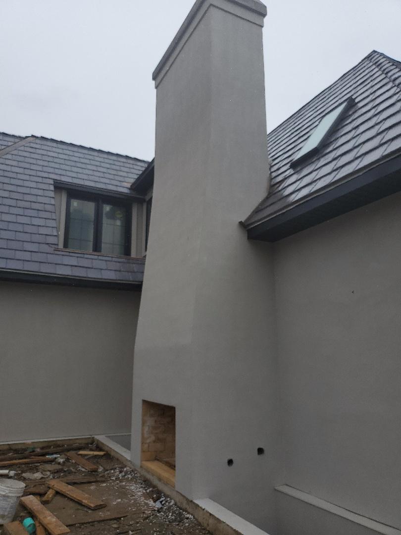 Glencoe, IL - Stucco chimney project