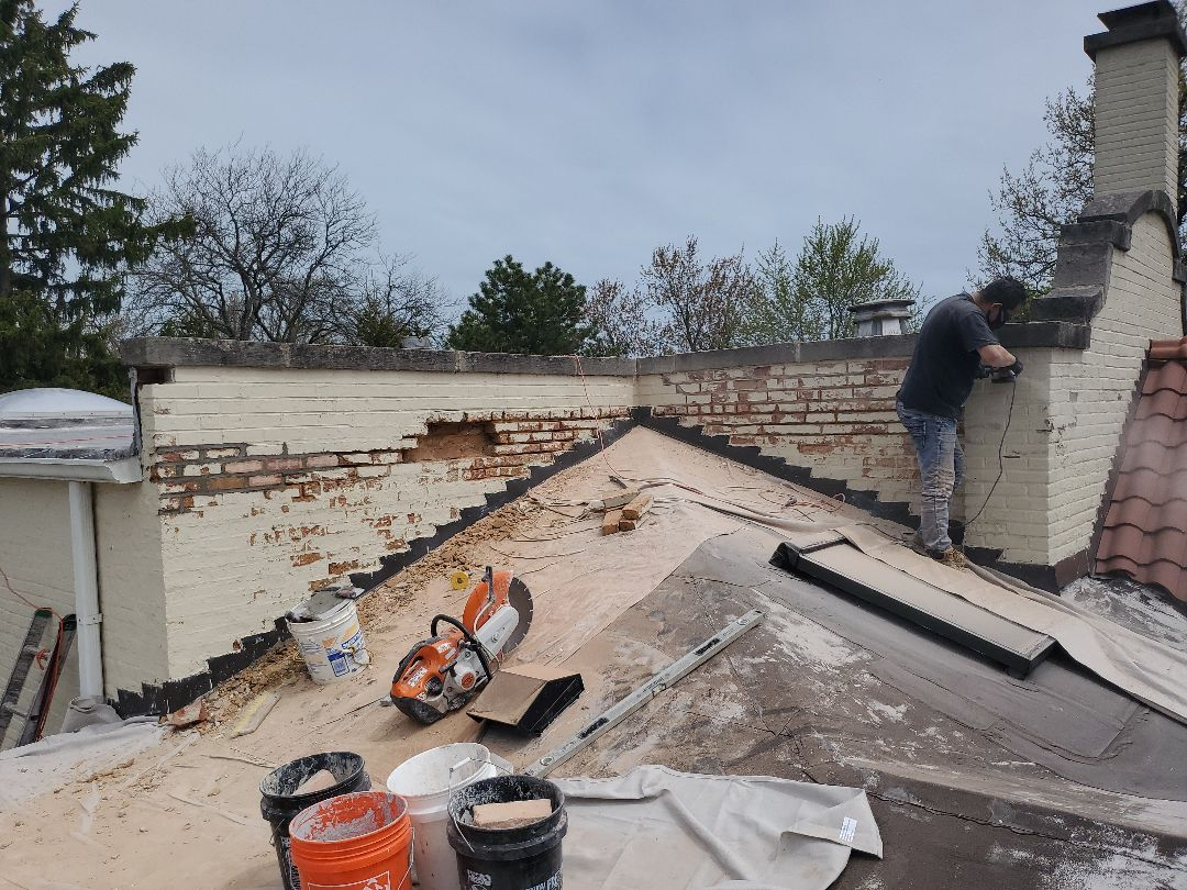 Glencoe, IL - Brick replacement and tuckpoint call NSBW for masonry repairs