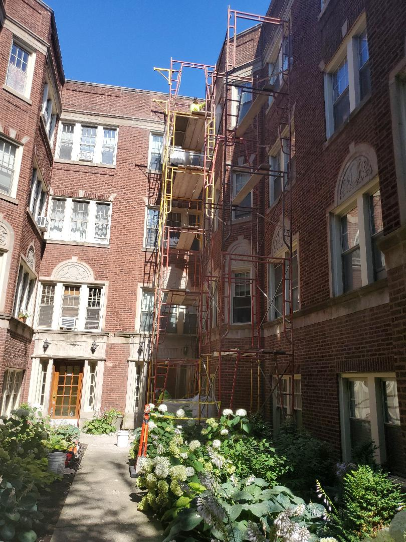 Chicago, IL - Changing lintels with flashing call us for masonry repairs