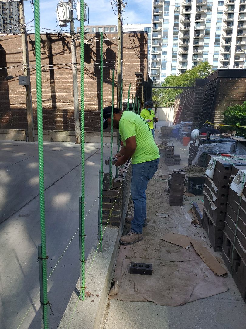 Chicago, IL - Building a new wall NSBW call us for any masonry repairs