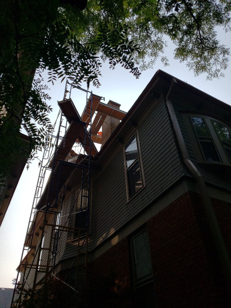 Evanston, IL - Chimney Tuck point and rebuild