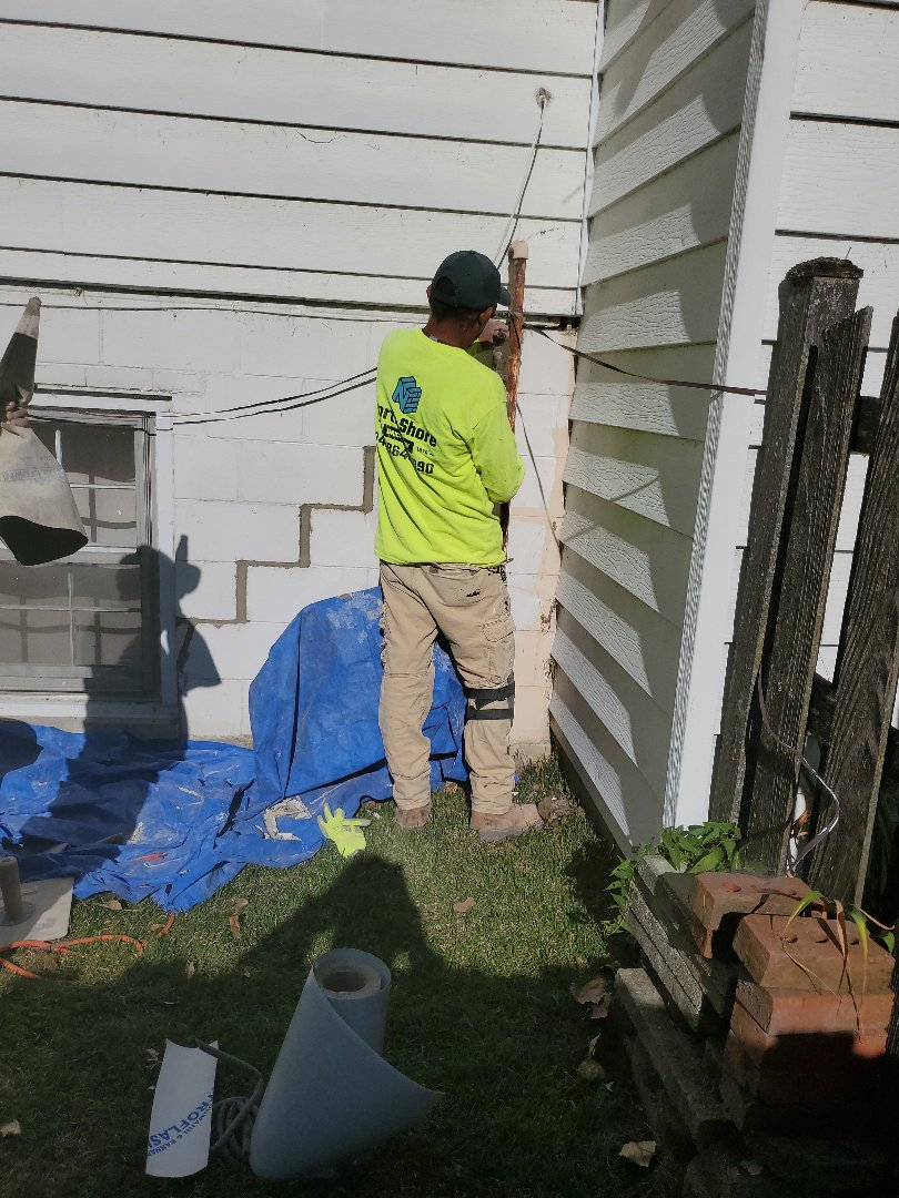 Mount Prospect, IL - Fixing crack on wall call NSBW for your masonry needs