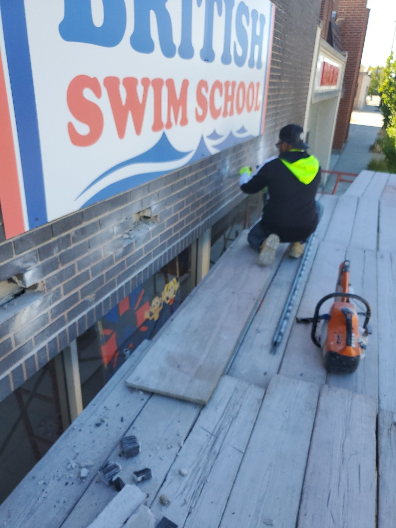 Skokie, IL - Steel Ibeam repair by NSBW call us for any masonry repairs