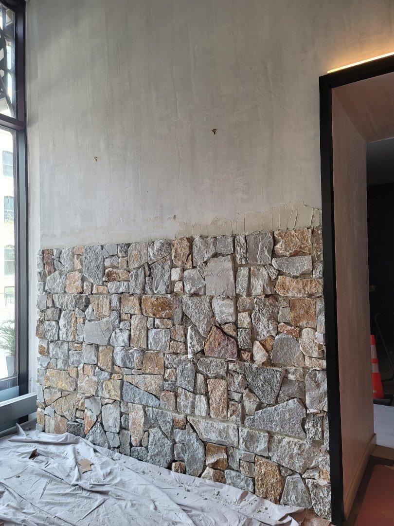 Chicago, IL - Stone Facade instalation by North Shore Brick Works.