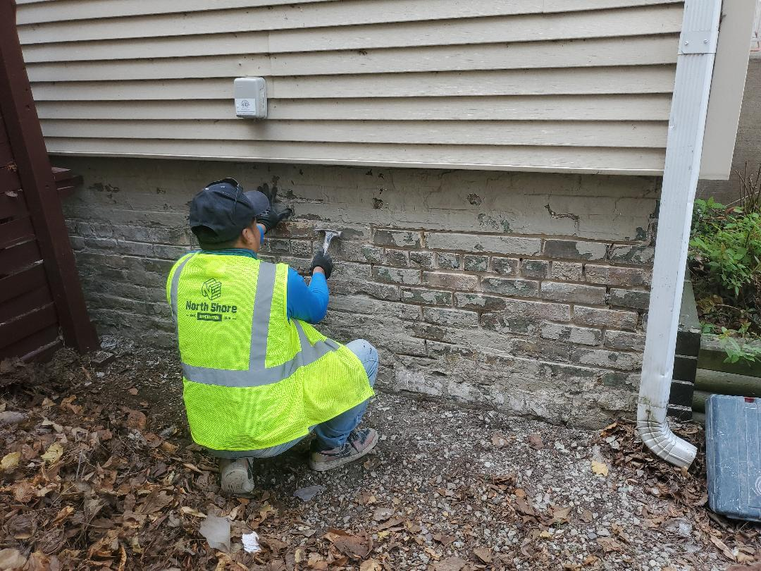 Evanston, IL - Grind and tuckpoint scrape ,paint call NSBW for any masonry repairs