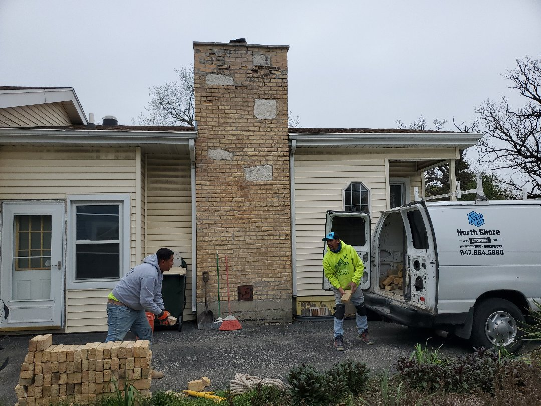 Rebuilding the chimney call NSBW for any masonry needs