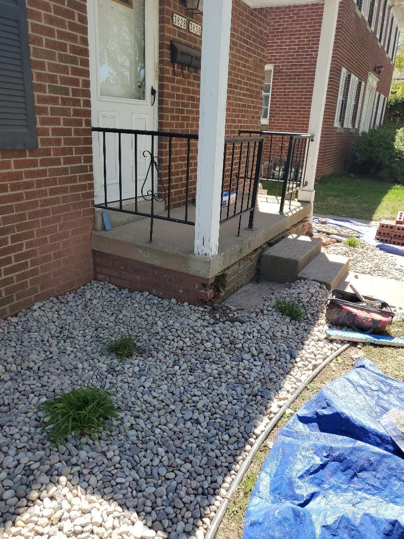Rebuilding walls call NSBW for  any masonry repairs