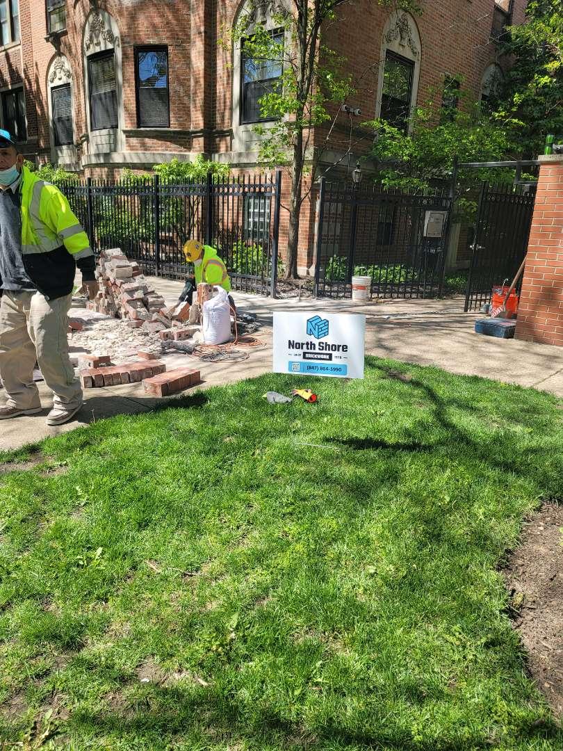 Chicago, IL - Columns Rebuilding Call North Shore Brick for a free Estimate.