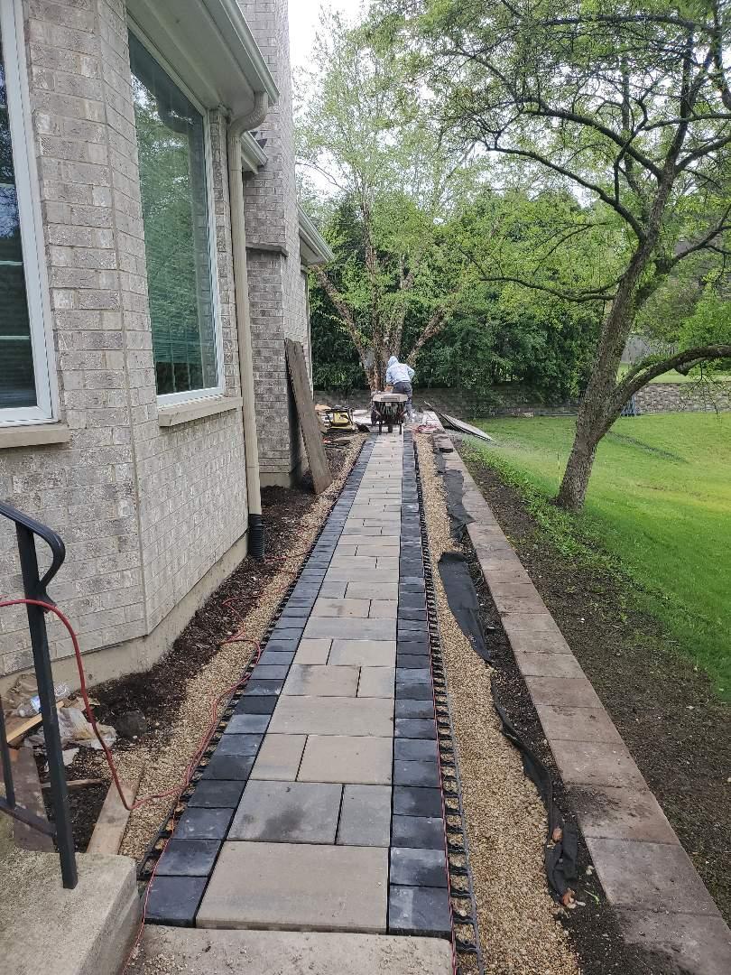 Northbrook, IL - Installation of new pavers call NSBW any masonry needs