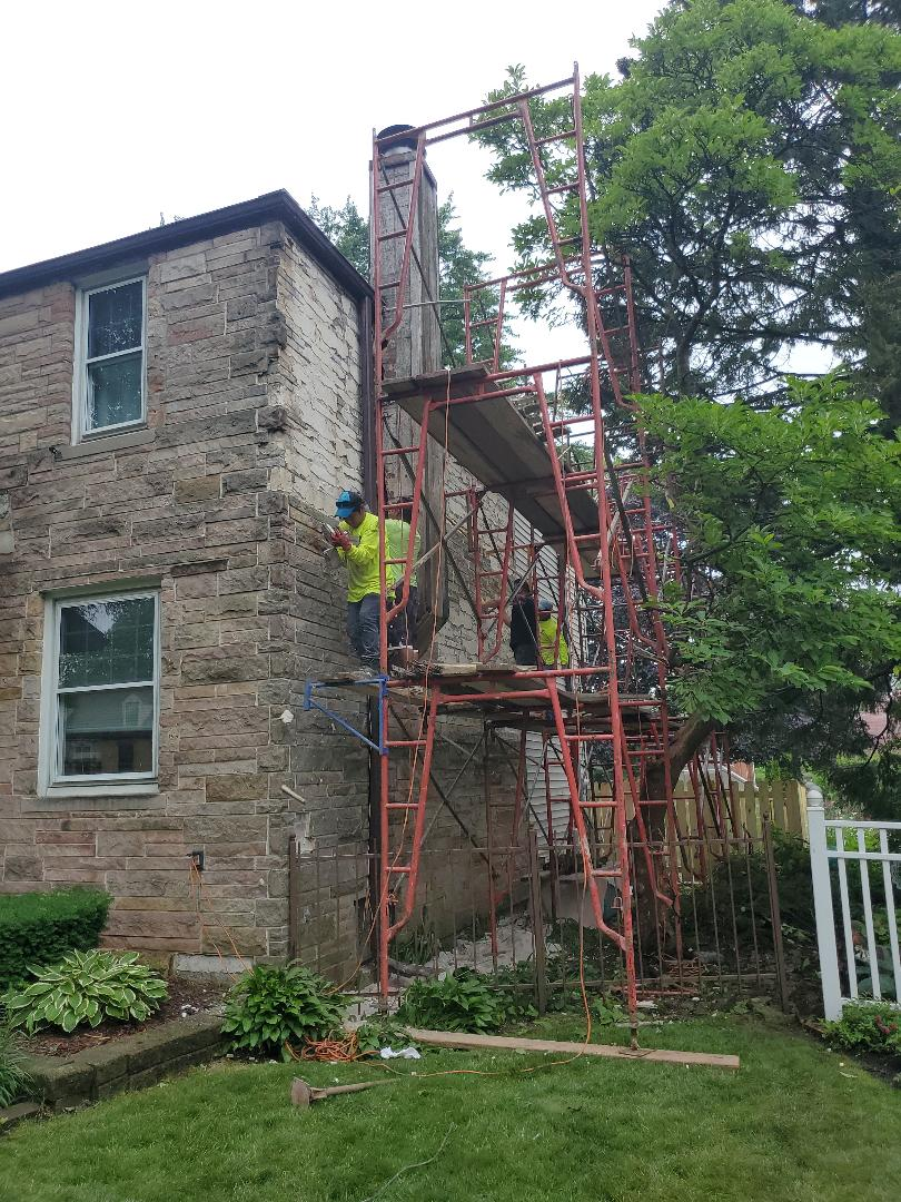 Park Ridge, IL - They call us  to make a makeover to this house will keep you updated call us for any masonry repairs or restoration