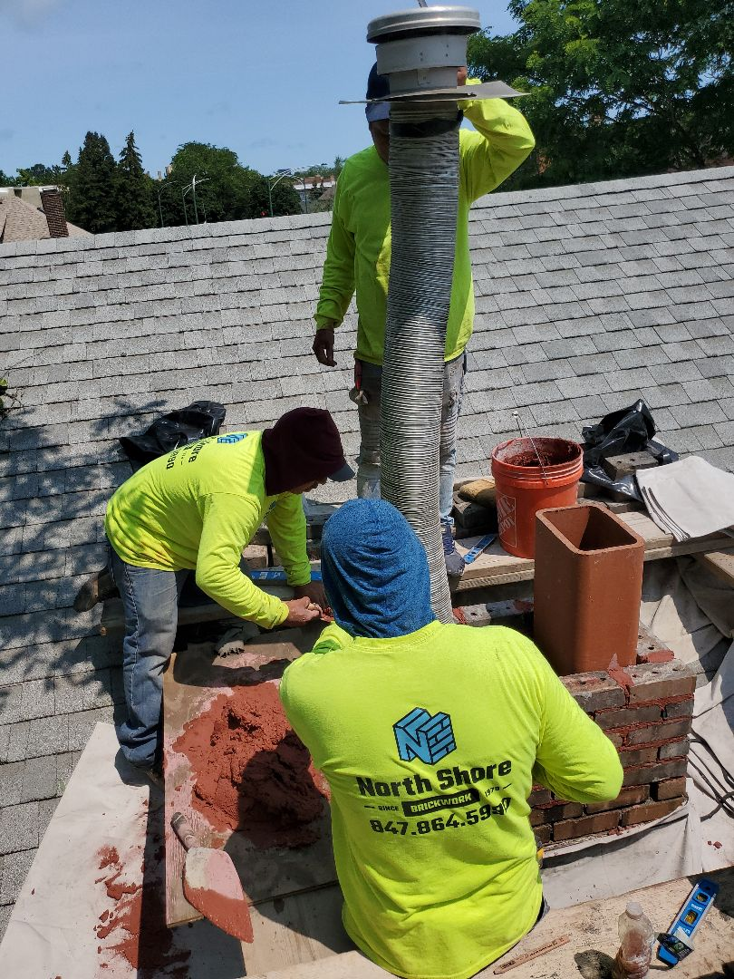 Rebuild a chimney by our expert guys call NSBW for your masonry needs