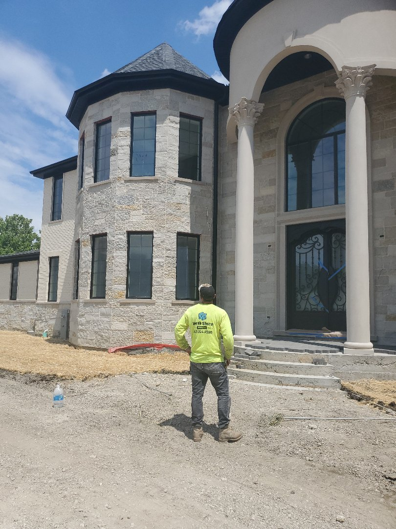 Another job done by NSBW stone and brick house new construction call us