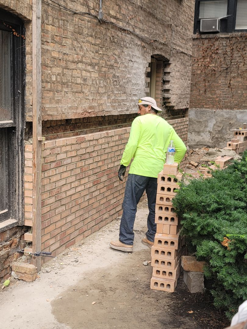 Brick wall Rebuilding by North Shore Brick
