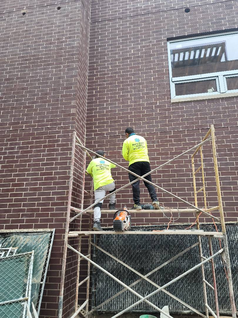 Cutting opening for windows call NSBW for anymasonry repairs