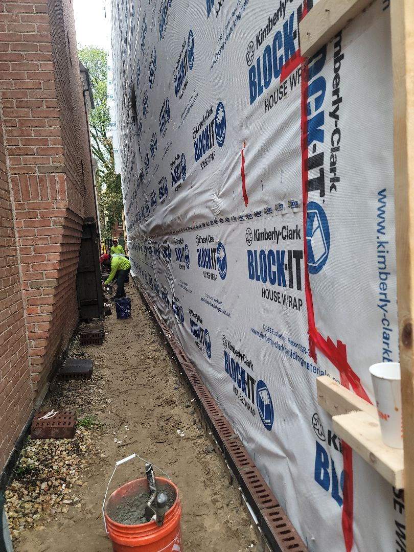 Start of new masonry house please call  NSBW for any masonry repairs