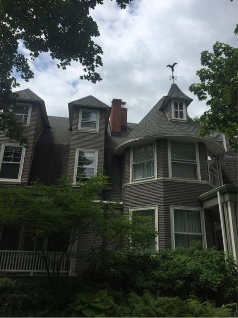 Evanston, IL - Chimney rebuild and brick repairs.  Interior brick walls in basement restored and painted.