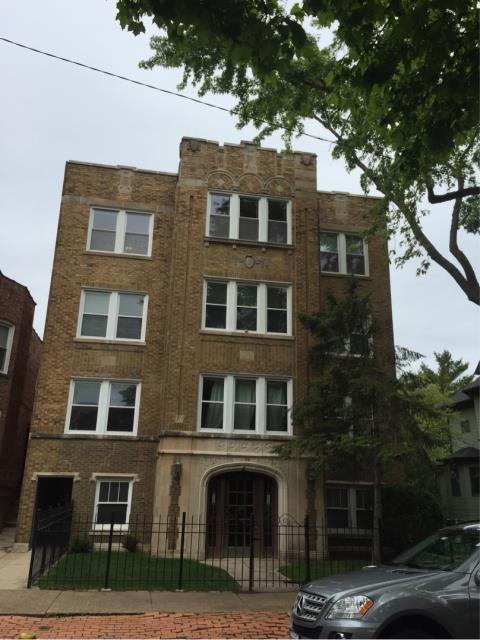 Chicago, IL - We estimated this beauty for extensive repairs the the front exterior parapet walls & tuckpointing.