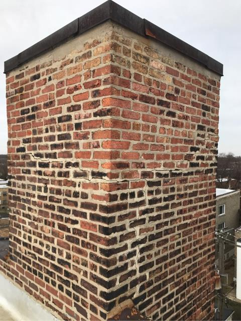 Chicago, IL - Estimated this chimney rebuild on the north side of Chicago for one of the largest property management companies in Chicago. Gearing up for the busy spring repair season. How may we serve you?