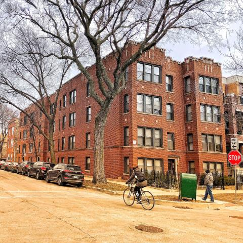 Chicago, IL - Another apartment building calling Chicago's favorite brick layer to inspect for masonry repairs.  All was needed here was some parapet brick repair and replacement as well as some tuckpointing work around the exterior.  Here comes Spring...
