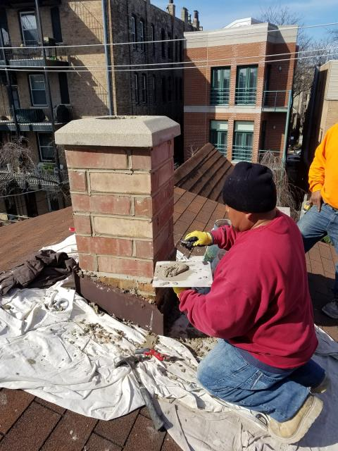 Chicago, IL - Chimney rebuild and liner replacement project completed in the great city of Chicago.