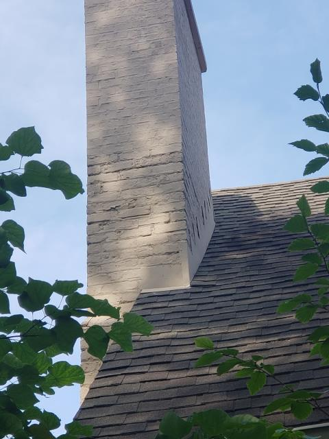 Kenilworth, IL - Completed this chimney tuckpointing repair in beautiful Kenilworth this week. North Shore Brickwork & Windows takes pride in our ability to color match existing mortar joint style and color as close as possible. Our client is very happy with the finished product.