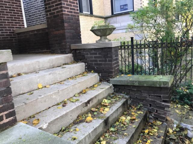 Complete repairs to the side walls of the front steps last week. Our client is very happy with the out come!