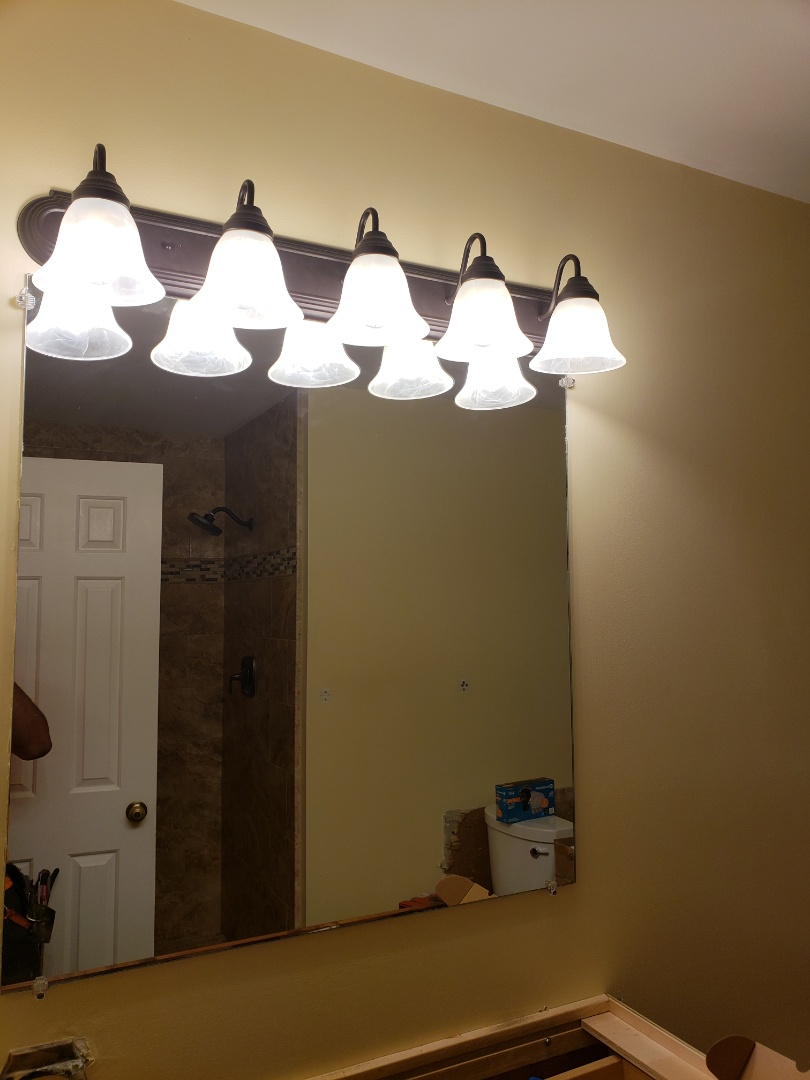 Columbia, MD - New bath vanity light