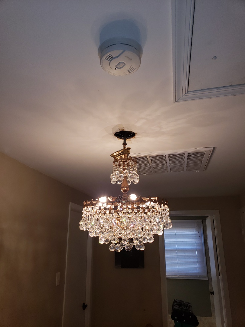 Bowie, MD - Install customer supplied antique chandelier