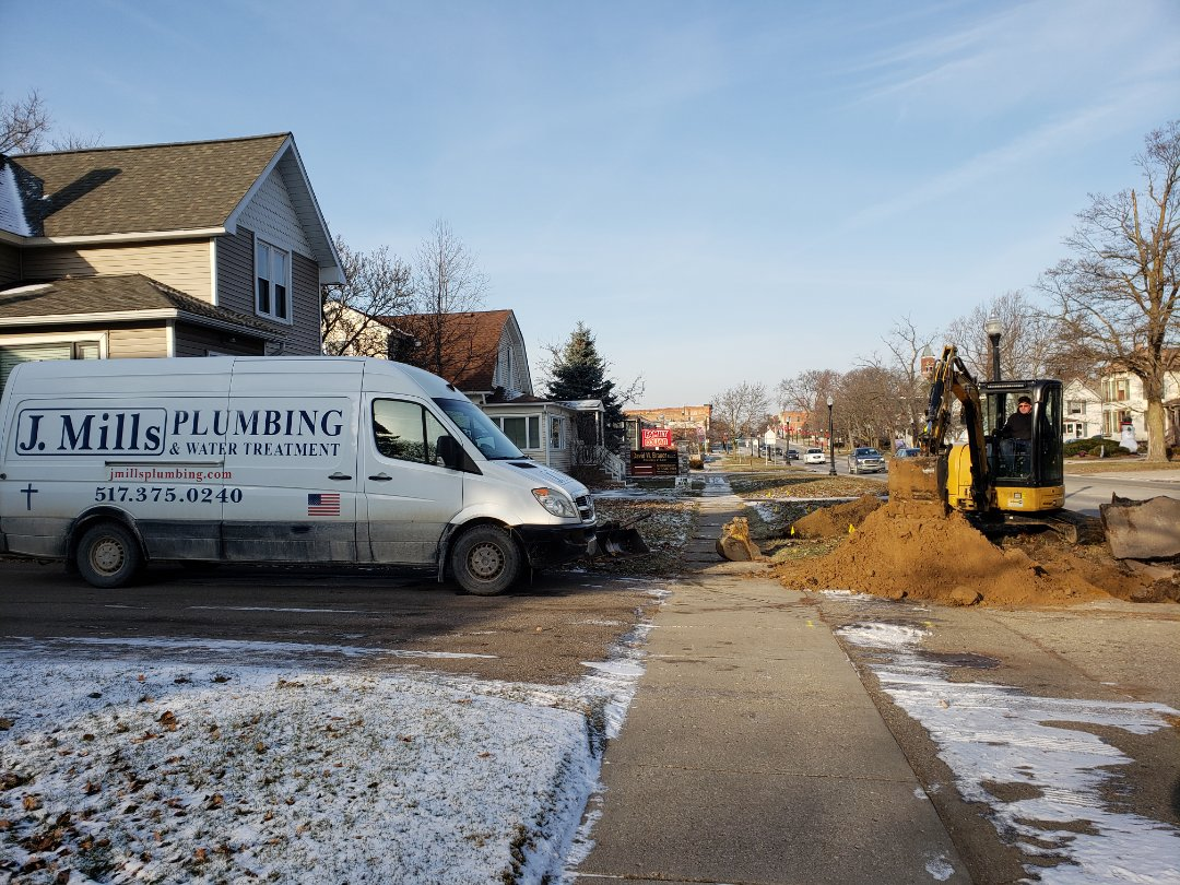 Howell, MI - Plumber Howell mi Galvanized water line Low pressure city water