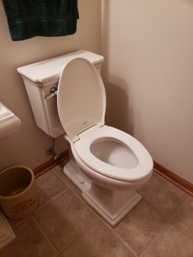 Fowlerville, MI - Install and provide new comfort height toilet Replace toilet Plumber needed good reviews Fill water softener