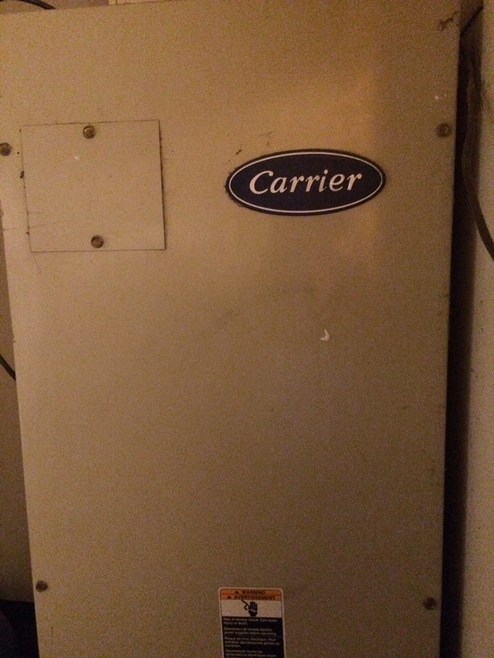 Piedmont, OK - Av service on a carrier heat pump in Piedmont ok, call hunter heat and air for service today!