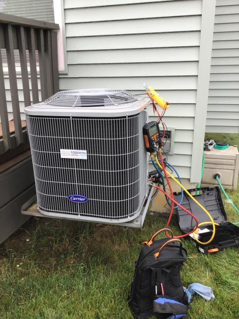 Blacklick, OH - Carrier AC not cooling efficiently due to humidification in the home. Request dehumidifier to be installed in the home.