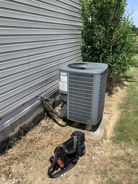 Ashley, OH -  during testing found compressor making loud noise and not pumping refrigerant. Inform customer of issue and recommended replacement quoted new system and set install date waived service call fee is due to purchase of new equipment.