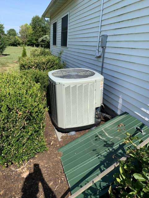 Sunbury, OH - During testing found low sub cooling and high superheat also found low pressures this indicates a leak and informed customer and recommended leak search customer declined at this time and only wanted to add refrigerant no other issues found system operating as intended 20° delta T. Also noting the bottom service door by service valves is missing and control wires are exposed to elements and have degraded wire sheathing this will cause a level to sure inform customer customer stated he would fix himself.