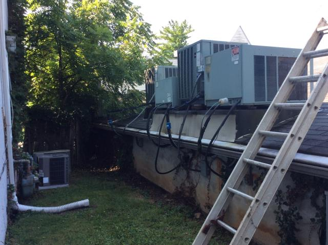 Gahanna, OH - Found 2008 Weather King AC unit high superheat, low suction pressure. System has a leak. Applied Easy Seal and added 1 lb Refrigerant R-410A Puron. Unit operational at departure.