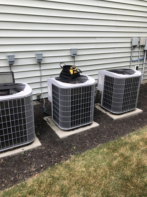 Dublin, OH - Replaced control board and transformer . Tested system in heating mode and cooling mode. Found no issues with heating. During testing of cooling mode I found System low on refrigerant. Added 2.25lbs . Set pressures . All amp draws for fan and compressor are within manufacturing specs. No issues found. The 2007 Carrier  System operational on departure.