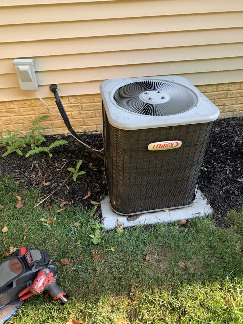 Sunbury, OH -  found system low on refrigerant. Informed customer recommended replacement due to age ,condition ,efficiency,costly repairs/obsolete parts, and phasing out of R22 refrigerant. Gave customer replacement options.