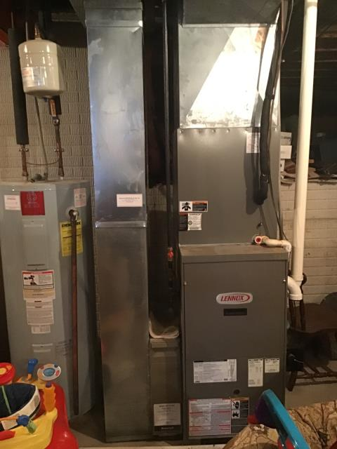 Sunbury, OH - Upon tune up inspection on 2019 Carrier AC & 2005 Lennox furnace, found no issues with cooling side of system. Found heavy corrosion, hot spot, and weak point on heat exchanger, burners heavily corroded, igniter homing out of specs(255), flame displacement in 2 of the 4 heat exchanger cells, corrosion on burner box as well. Noting pitting in flame sensor. Recommending replacement due to age, condition, and Integrity of integrity heat exchanger. Provided estimate for repairs & replacement.