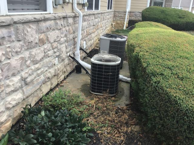 Powell, OH - I Found the unit low, filter dirty. Replaced filter with customer's own cycled, good airflow. Found system low, system a leak.