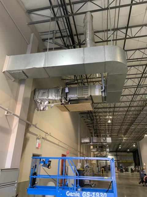 Dublin, OH -  found system suction pressure to be low after testing found airflow to be low around 1500 CFM system as a 5 ton and will need around 2000 CFM to operate properly.