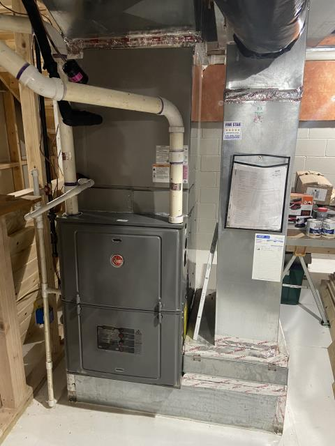New Albany, OH - Upon tune up inspection for 2014 Rheem furnace, found everything to be within manufacturer's specifications. Unit operational at time of departure.