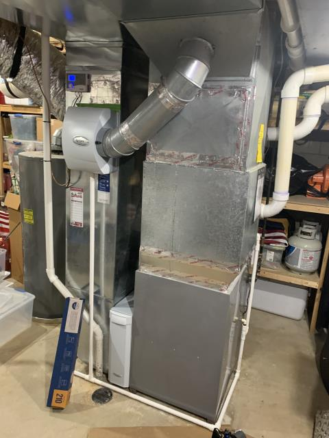 Dublin, OH - Service work performed: Found return duct making noise. Recommended cross bracing to fix issues. Also recommended maintenance. Customer declined repair at this time and also no guarantees that bracing will fully fix noise from return duct. Proceeded with maintenance. Found no issues. System operational on departure.