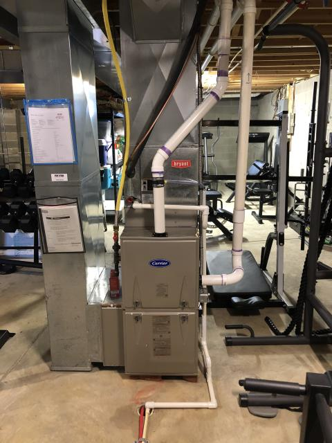 Blacklick, OH - I installed a Carrier 96% 60,000 BTU Gas Furnace