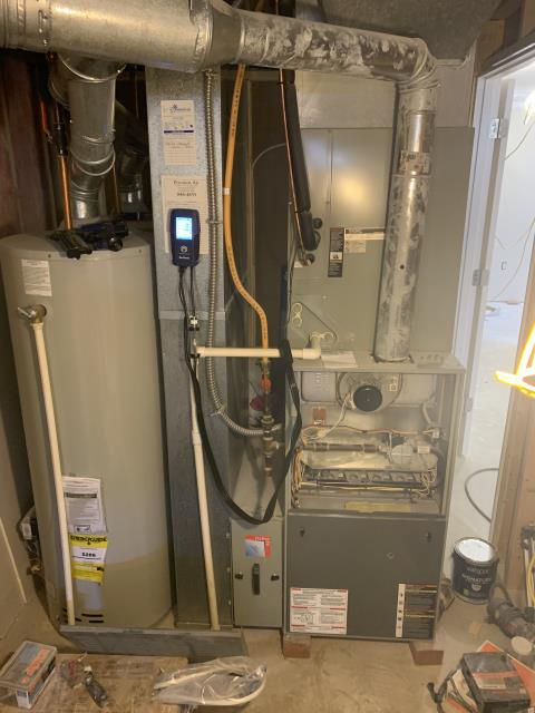 Powell, OH - I cleaned the flame sensor and burner on a Trane furnace system. I also found issues with the inducer motor bearings and the blower motor. I quoted repair options to customer