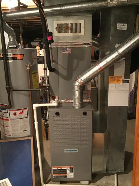 Columbus, OH - I performed a service on a 6 year old Comfortmaker Gas furnace . I found the gas valve pressure tap was leaking, plug had dried out sealant and needed added.