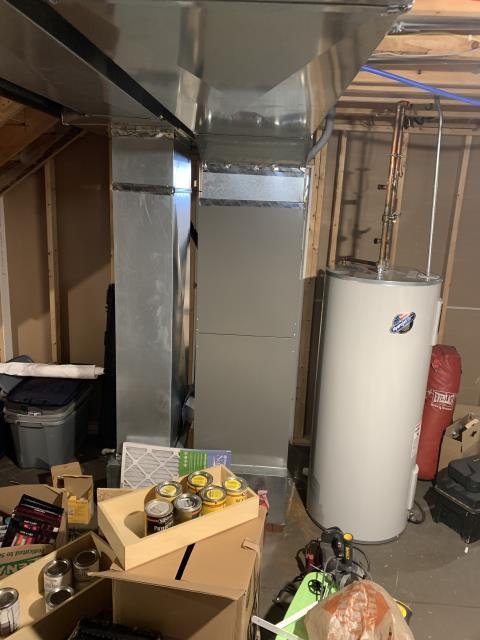 """Sunbury, OH - Provided customer with quote to replace current systems with a Carrier 96% 80,000 BTU Gas Furnace and a Carrier 16 SEER 3.5 Ton Air Conditioner. I also provided a quote for a Aprilaire High Efficiency 4"""" Air Cleaner."""