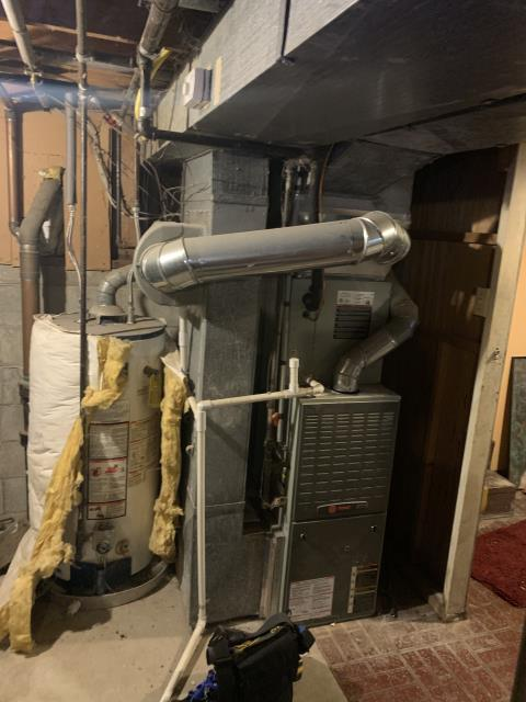 Westerville, OH - I installed a Carrier 80% 45,000 BTU Gas Furnace and a Carrier 16 SEER 2.5 Ton Air Conditioner