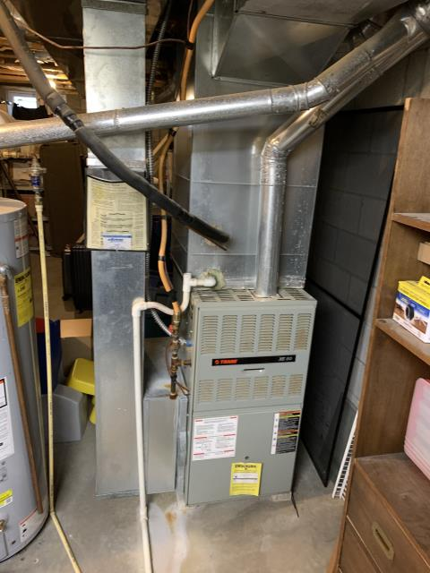 Delaware, OH - While performing a tune up, I found a hot spot on the heat exchanger and informed the customer. I also found the blower capacitor faulty and replaced with customer's permission. Everything else checked out and the system is operational upon departure.