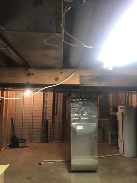 Westerville, OH - I relocated the air handler and made some modifications to the existing duct work and to the refrigerant line. The 2009 Carrier furnace is heating and everything is operating properly at time of departure.
