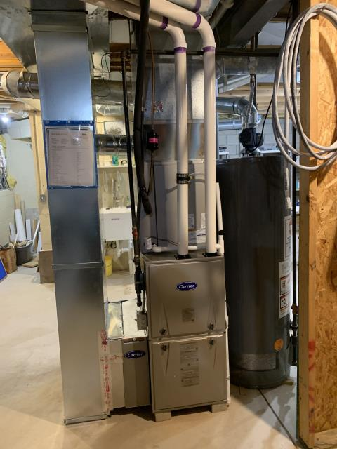 Powell, OH - I installed a Carrier 96% 60,000 BTU Gas Furnace and a Carrier 16 SEER 3 Ton Air Conditioner. I cycled the unit to ensure functionality. System is operational upon departure.